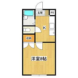 シャロームI[108号室]の間取り