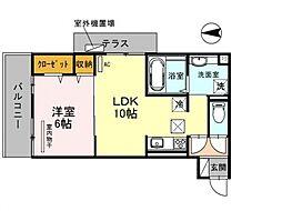 仮称)西野小柳町D-room[302号室号室]の間取り