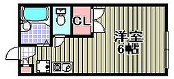 レオパレスフルヤ2[104号室]の間取り