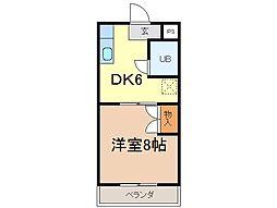 静岡県富士市蓼原町の賃貸マンションの間取り