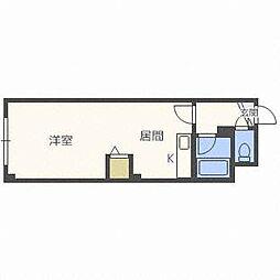 ウィングス札幌[3階]の間取り