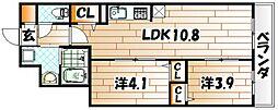 サンクレシア戸畑駅前II[2階]の間取り