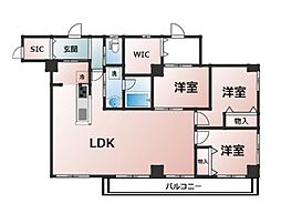 東京メトロ東西線 早稲田駅 徒歩4分の賃貸マンション 3階3SLDKの間取り