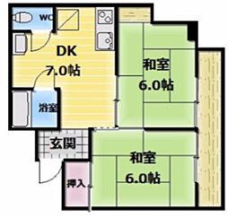 エイシン長栄寺ビル[7階]の間取り