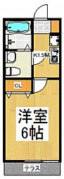 O_NEST六町[1階]の間取り