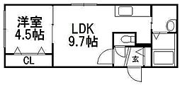 北海道札幌市西区山の手二条3丁目の賃貸マンションの間取り