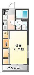 千葉県習志野市藤崎6の賃貸アパートの間取り