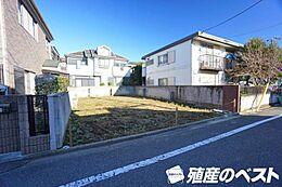 西武新宿線「上井草」駅より徒歩圏内。敷地面積は約38坪。南面道路に面した陽当たりの良い整形地。