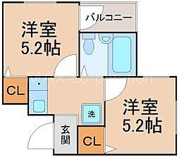 インペリアルスィートコーニッシュ[3階]の間取り
