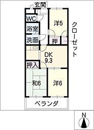 ファミーユK・Y[2階]の間取り