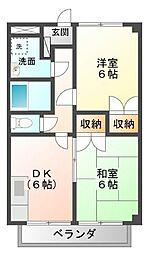 静岡県裾野市伊豆島田の賃貸アパートの間取り
