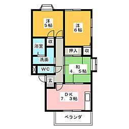 N.W.S.I[2階]の間取り