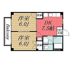 千葉県佐倉市本町の賃貸アパートの間取り
