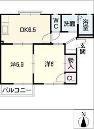 ピア A棟[1階]の間取り