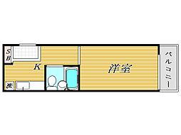 東京都練馬区旭丘2丁目の賃貸マンションの間取り