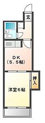 メゾンサプリーム[2階]の間取り