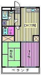 リファインドマンションK[2階]の間取り