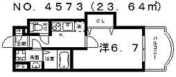 Luxe田辺(ラグゼ田辺)[10階]の間取り