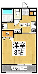 bフラット[1階]の間取り