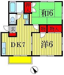 S桜坂[101号室]の間取り