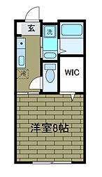 神奈川県相模原市南区大野台2丁目の賃貸アパートの間取り