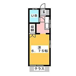 モンパレス鹿沼第2 4号館[1階]の間取り