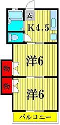 コーポラスシカマ[2階]の間取り