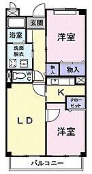 フローレスSUZUKI[204号室]の間取り