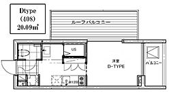 B CITY APARTMENT TACHIKAWA[408号室号室]の間取り