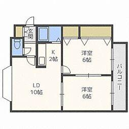 キャストル35[4階]の間取り