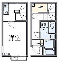 埼玉県新座市東の賃貸アパートの間取り