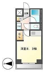 クラージュ 474[2階]の間取り