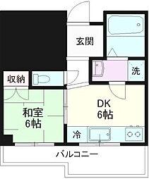 東京都江戸川区西小岩1丁目の賃貸マンションの間取り
