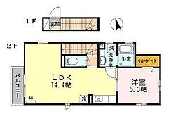 JR中央線 荻窪駅 徒歩12分の賃貸アパート 1階1LDKの間取り
