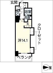 エルブ葵[8階]の間取り