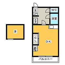 ジュネス小笹[2階]の間取り