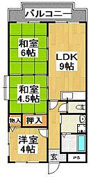 大阪府堺市中区土塔町の賃貸マンションの間取り