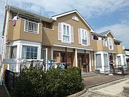 岡山県倉敷市真備町岡田の賃貸アパートの外観