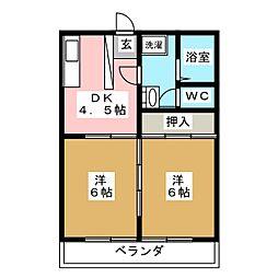 宮千代レジデンス[3階]の間取り