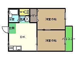 アネックスAKI[1階]の間取り