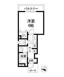 カーサクレール[1階]の間取り