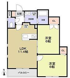 (仮称)板橋区東新町(賃貸併用)住宅新築[3階]の間取り