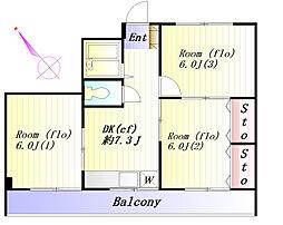 高助グリーンハウス[4階]の間取り