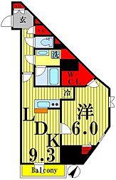 東武伊勢崎線 東向島駅 徒歩2分の賃貸マンション 10階1LDKの間取り
