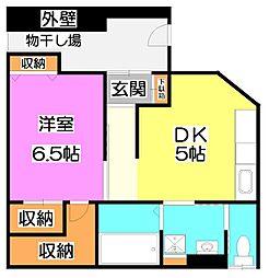 永井コーポ[1階]の間取り