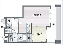 KDXレジデンス大濠ハーバービュータワー[6階]の間取り