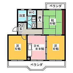 プラネッツ[2階]の間取り