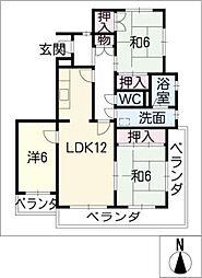 ラ クラッシィ社ヶ丘[2階]の間取り