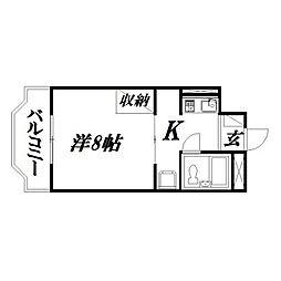 静岡県浜松市東区天龍川町の賃貸マンションの間取り