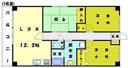 アブニール新宮2[6階]の間取り